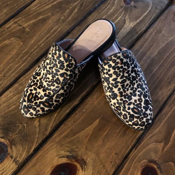 Caslon Shoes   Leopard Calf Hair Mules